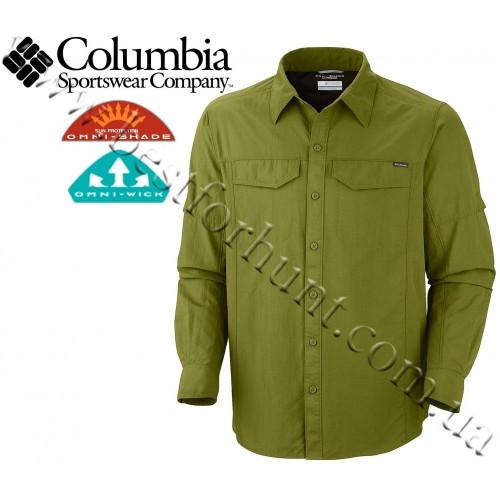 Columbia® Silver Ridge™ Long Roll-Up Sleeve UPF 50 Shirt Olive
