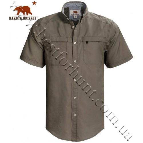 Dakota Grizzly® Tildan™ Short Sleeve Shirt Gray