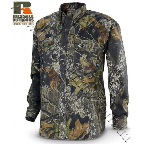 Russell Outdoors® Explorer Long Sleeve Button-Up Shirt Mossy Oak® Break-Up®