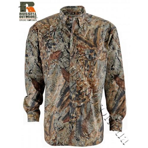 Russell Outdoors® Explorer Long Sleeve Button-Up Shirt Mossy Oak® Duck Blind®
