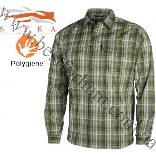 Sitka® Gear Globetrotter Long Sleeve Shirt Cargo Plaid