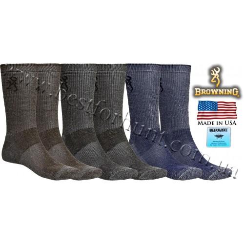 Browning® Ultra-Dri™ 3-Pack Lightweight Crew Hunting Socks