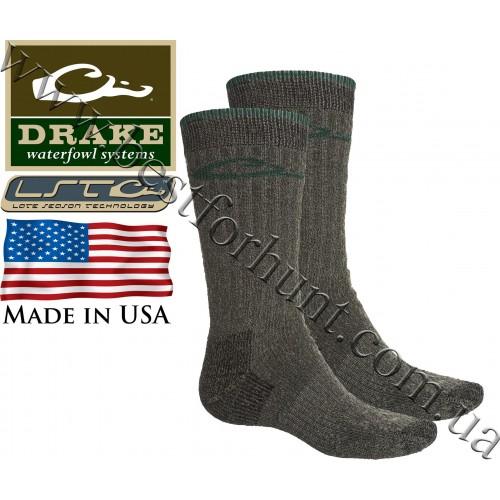 Drake Waterfowl® Full Cushion Heavy Weight Merino Wool Blend Socks Charcoal Green