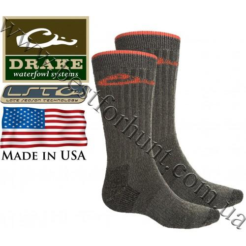 Drake Waterfowl® Full Cushion Heavy Weight Merino Wool Blend Socks Charcoal Orange
