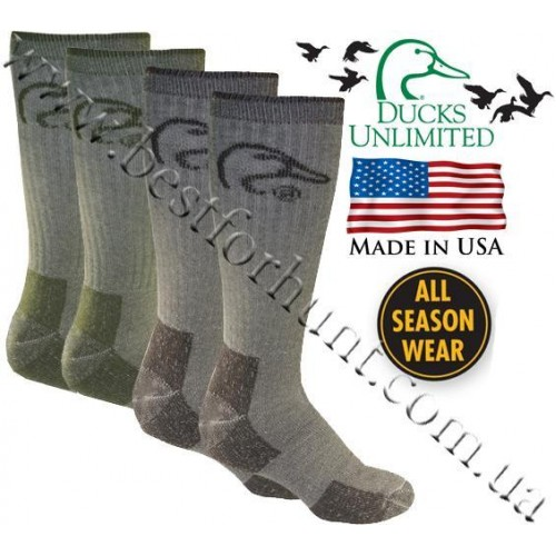 Ducks Unlimited® Merino Wool Blend Socks 2 Packs