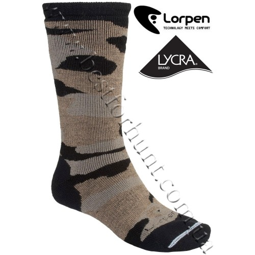 Lorpen Camo Midweight Merino Wool Hunting Socks