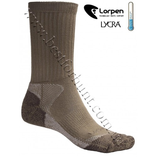 Lorpen CoolMax® Lightweight Hunting Socks Khaki