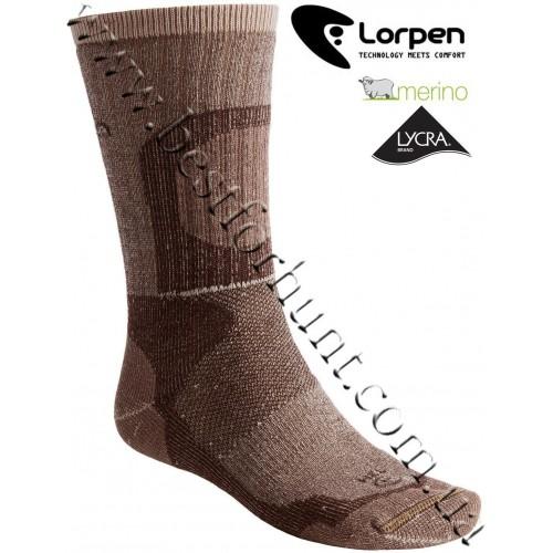 Lorpen Extreme Midweight Merino Wool Hunting Socks Brown