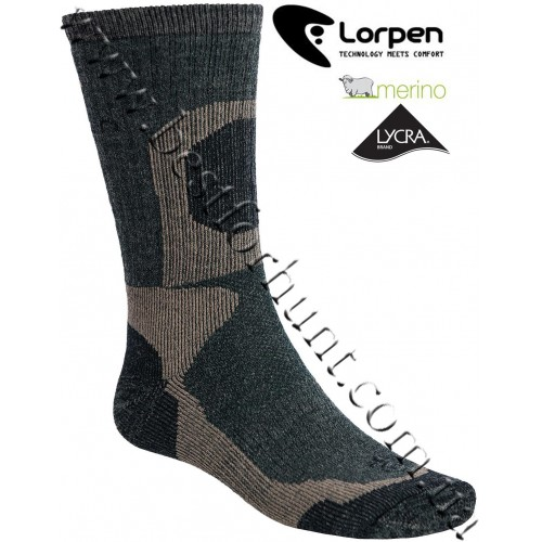 Lorpen Extreme Midweight Merino Wool Hunting Socks Deep Forest