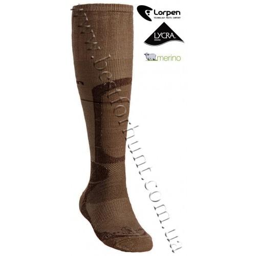 Lorpen Heavyweight Merino Wool Hunting Socks Brown