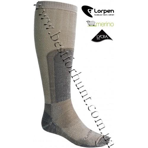 Lorpen Super Heavy Merino Wool Hunting Socks Desert