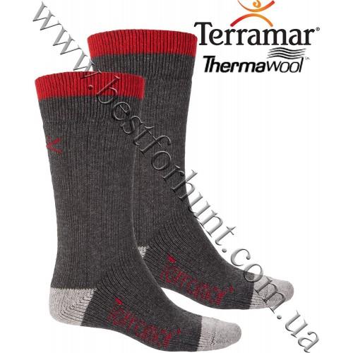 Terramar® Thermawool® Sub-Zero Crew Sock Dark Charcoal