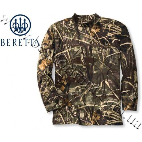 Beretta® Long Sleeve Mock Turtleneck Shirt Realtree MAX-4®