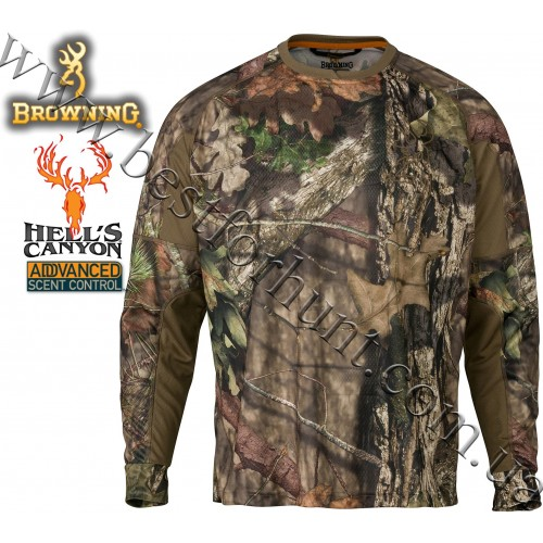 Browning® Hell's Canyon™ Cardiff Long Sleeve Tech Crew Mossy Oak® Break-Up® COUNTRY™