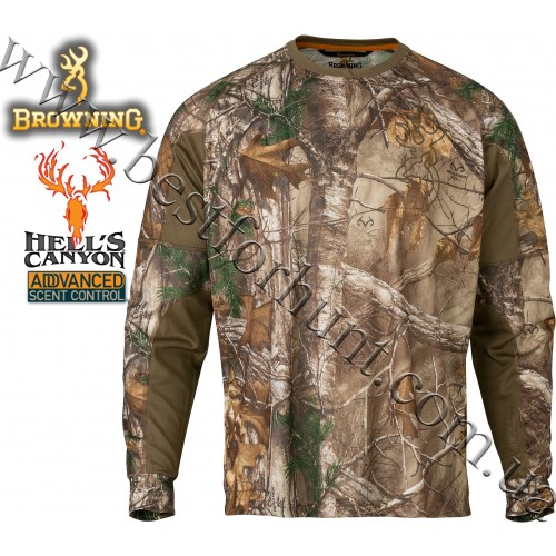 Browning® Hell's Canyon™ Cardiff Long Sleeve Tech Crew Realtree Xtra®