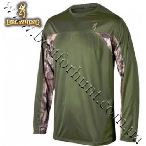 Browning® Performance II Long Sleeve Tech Tee Moss with Mossy Oak® Break-Up® Infinity™