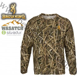 Browning® Wasatch™ Long Sleeve T-Shirt Mossy Oak® Shadow Grass® Blades™