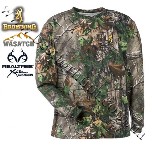 Browning® Wasatch™ Long Sleeve T-Shirt Realtree Xtra® Green