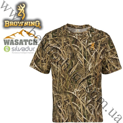 Browning® Wasatch™ Short Sleeve T-Shirt Mossy Oak® Shadow Grass® Blades™