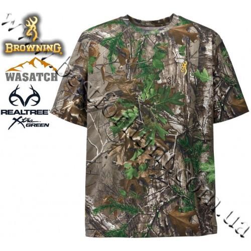 Browning® Wasatch™ Short Sleeve T-Shirt Realtree Xtra® Green