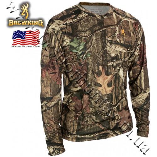 Browning® Wasatch™ Vapor Max Long Sleeve T-Shirt Mossy Oak® Break-Up® Infinity™