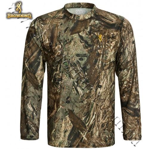 Browning® Wasatch™ Vapor Max Long Sleeve T-Shirt Mossy Oak® Duck Blind®