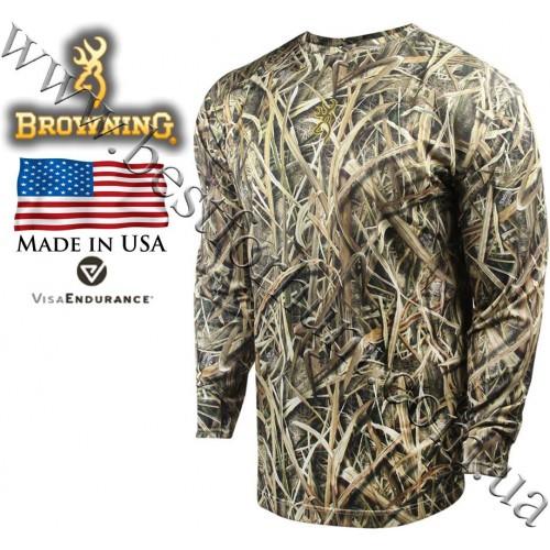 Browning® Wasatch™ Vapor Max Long Sleeve T-Shirt Mossy Oak® Shadow Grass® Blades™