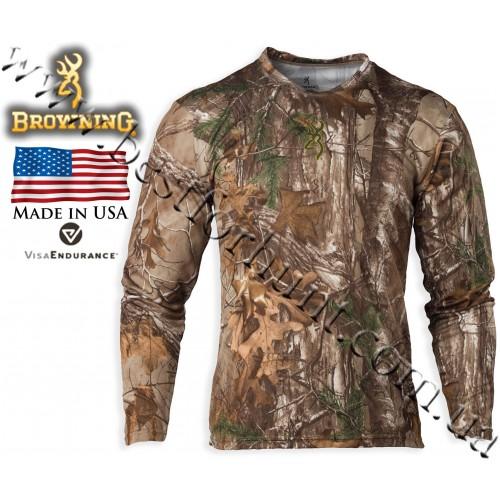 Browning® Wasatch™ Vapor Max Long Sleeve T-Shirt Realtree Xtra®
