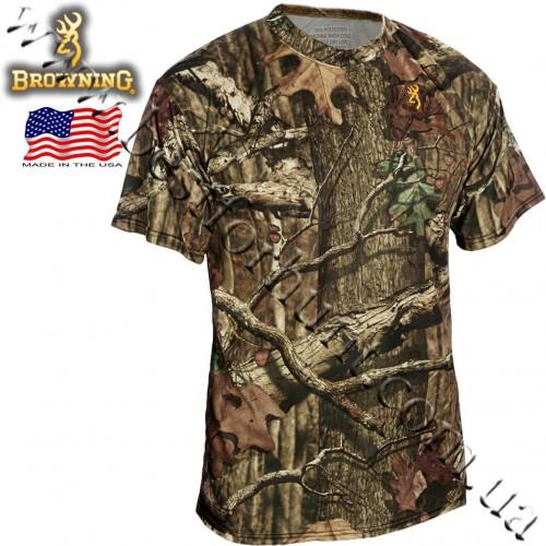 Browning® Wasatch™ Vapor Max Short Sleeve T-Shirt Mossy Oak® Break-Up® Infinity™