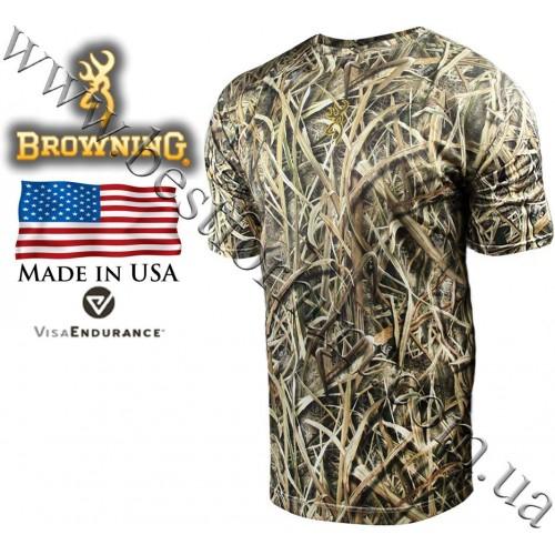 Browning® Wasatch™ Vapor Max Short Sleeve T-Shirt Mossy Oak® Shadow Grass® Blades™