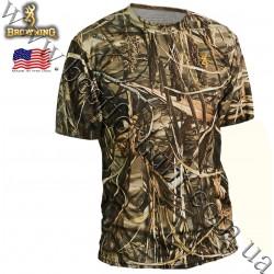 Browning® Wasatch™ Vapor Max Short Sleeve T-Shirt Realtree MAX-4®