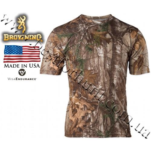 Browning® Wasatch™ Vapor Max Short Sleeve T-Shirt Realtree Xtra®