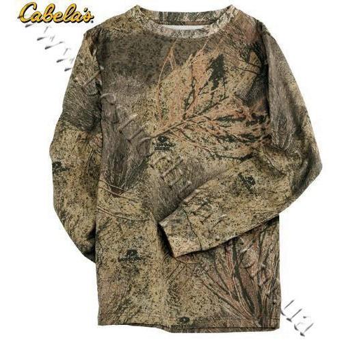 Cabela's Long-Sleeve 100% Cotton Camo Tee Shirt Mossy Oak® Brush®