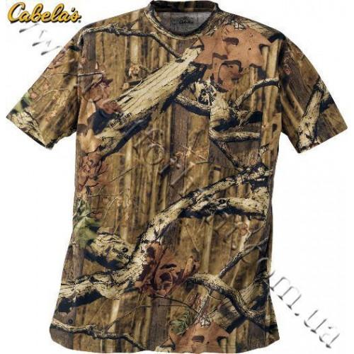 Cabela's Short-Sleeve 100% Cotton Camo Tee Shirt Mossy Oak® Break-Up® Infinity™