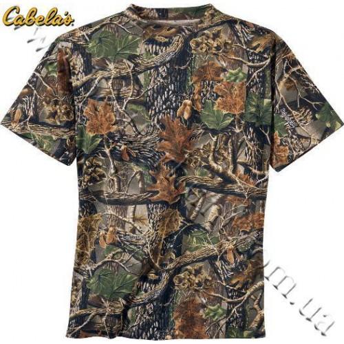Cabela's Short-Sleeve 100% Cotton Camo Tee Shirt Seclusion 3D®