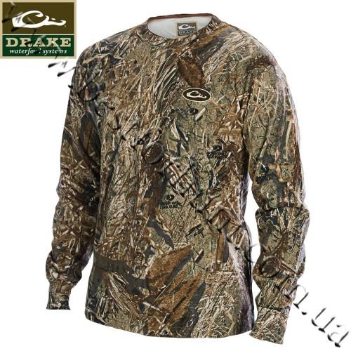 Drake Waterfowl Camo Long Sleeve T-Shirt Mossy Oak® Duck Blind®