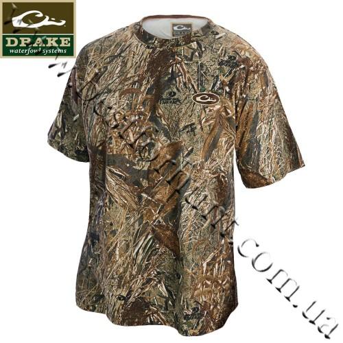 Drake Waterfowl Camo Short Sleeve T-Shirt Mossy Oak® Duck Blind®