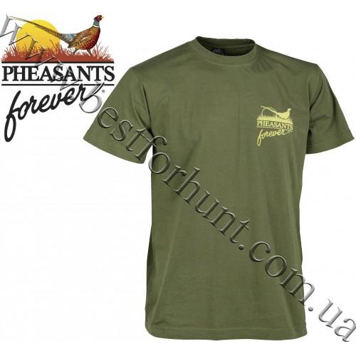 Pheasants Forever® Vintage Hunt Sign T-Shirt Military Green