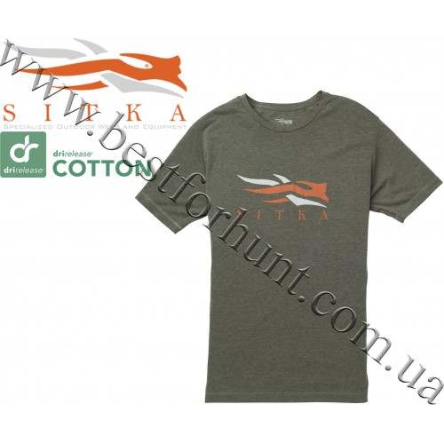 Sitka™ Gear Logo Short Sleeve Tee Shirt Olive Heather