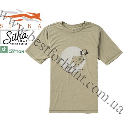 Sitka™ Gear Speeder Short Sleeve Tee Shirt Cargo Heather