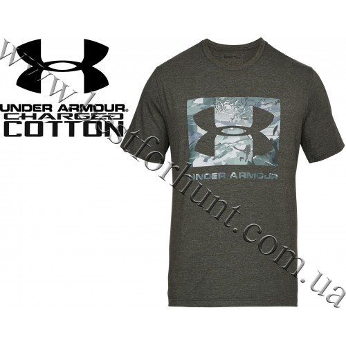 Under Armour® Camo Knockout Short Sleeve Hunting Graphic T-Shirt Artillery Green with Ridge Reaper Barren® Camo