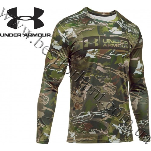 Under Armour® Camo Tag Hunting Graphic Long Sleeve T-Shirt Ridge Reaper Forest® Camo