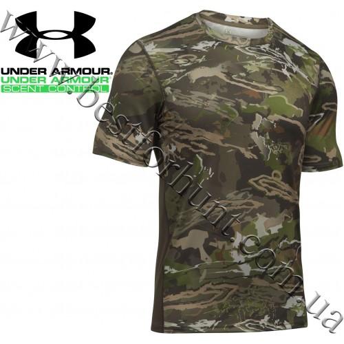 Under Armour® UA Tech™ Scent Control Short Sleeve Shirt Ridge Reaper Forest® Camo