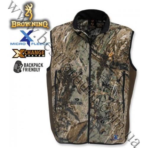 Browning® 4X Microfleece X-Change Vest Mossy Oak® Duck Blind®
