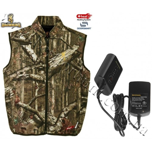 Browning® Soft Shell AddHeat™ Vest with AddHeat™ Power Pack and Control Module Mossy Oak® Break-Up® Infinity™