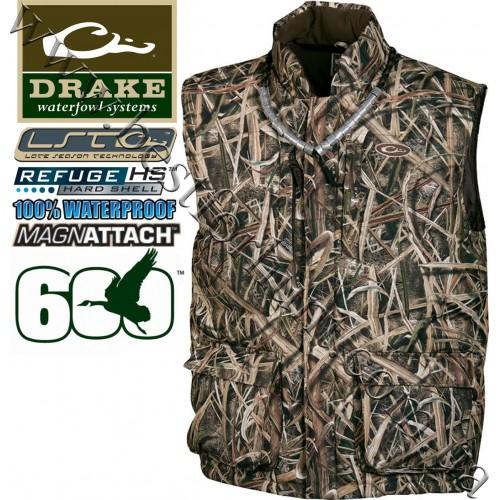 Drake Waterfowl® LST Down Vest Mossy Oak® Shadow Grass® Blades™