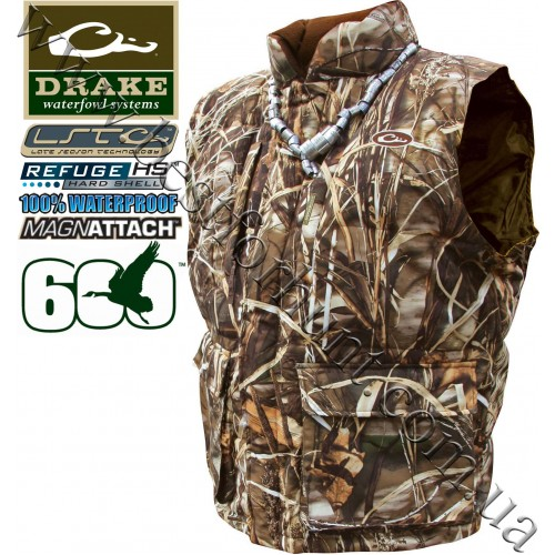 Drake Waterfowl LST Down Vest Realtree MAX-4®