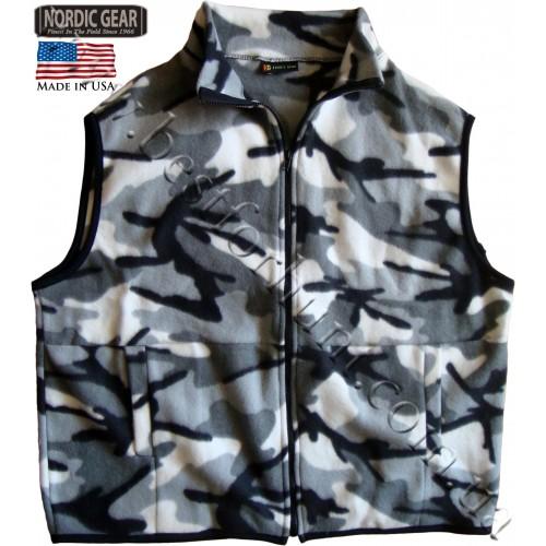 Nordic Gear® Fleece Vest Snow Camo