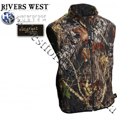 Rivers West® Cold Canyon™ Midweight Waterproof Fleece Vest Mossy Oak® Break-Up®