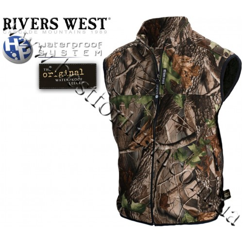 Rivers West® Cold Canyon™ Midweight Waterproof Fleece Vest Realtree Hardwoods Green HD®